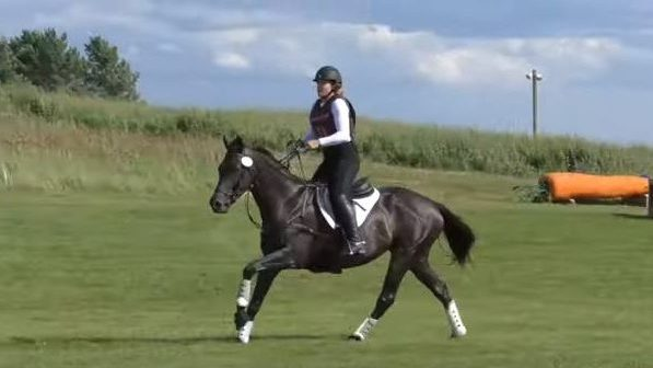 Katharine Morel and Her Horse Kerry On