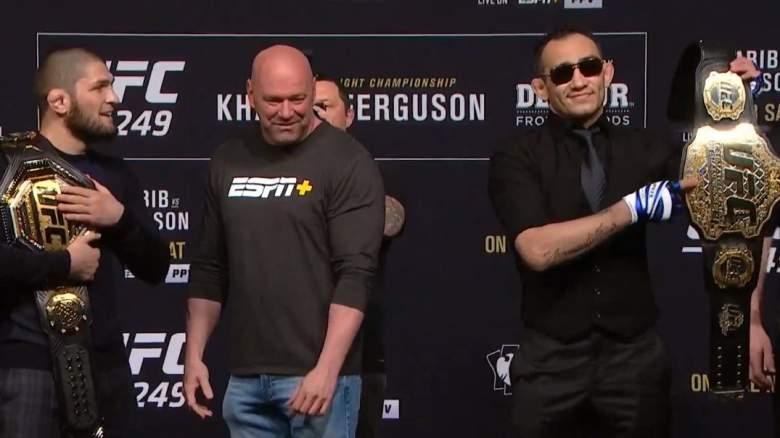 Khabib Nurmagomedov and Tony Ferguson