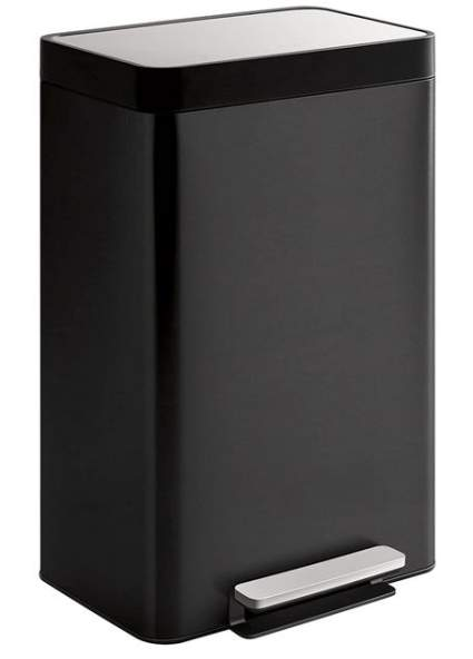 Kohler Black Stainless Steel Hands-Free Trash Can