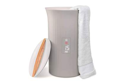 luxury bucket towel warmer