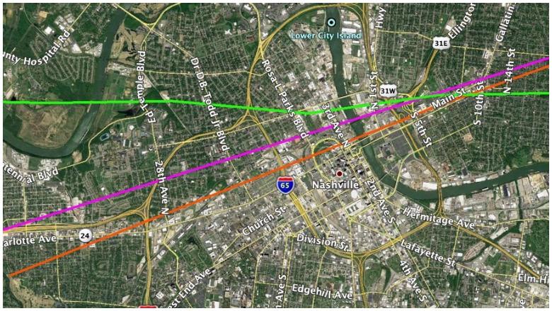 nashville tornado path