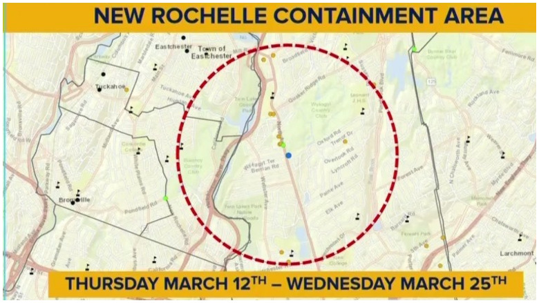new rochelle containment area map