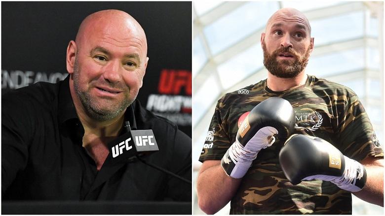 Dana White and Tyson Fury