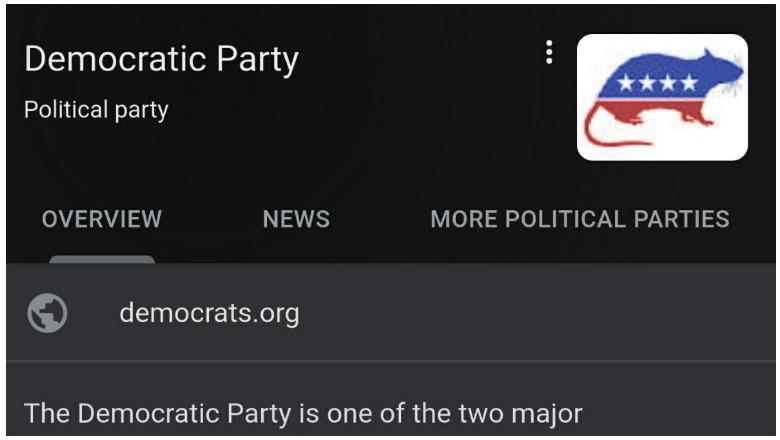Democratic Party Rat Logo