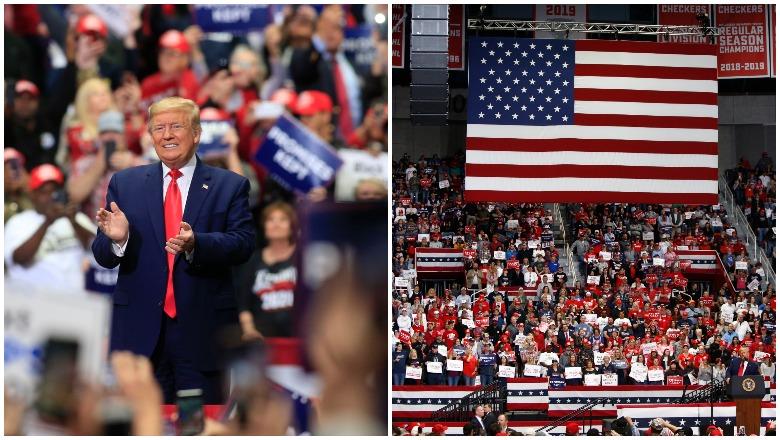 Trump North Carolina Rally Crowd
