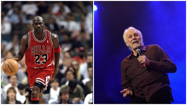 Michael Jordan and Kenny Rogers