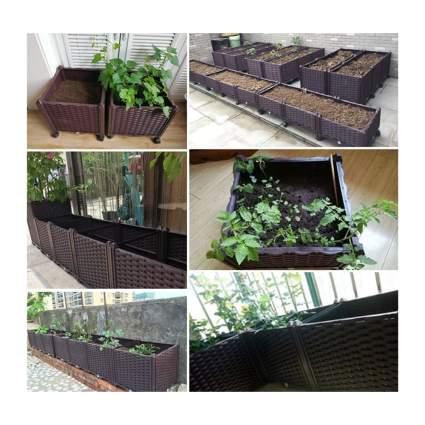 rectangular raised garden kit