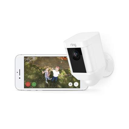 Ring Spotlight HD Security Camera With Two-Way Talk and Siren Alarm