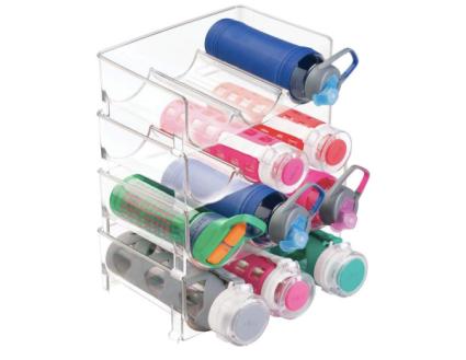 mDesign Plastic Stackable Vertical Standing Water Bottle Holder