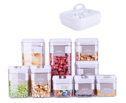 DRAGONN 9 Piece Airtight Food Storage Container Set with Labels