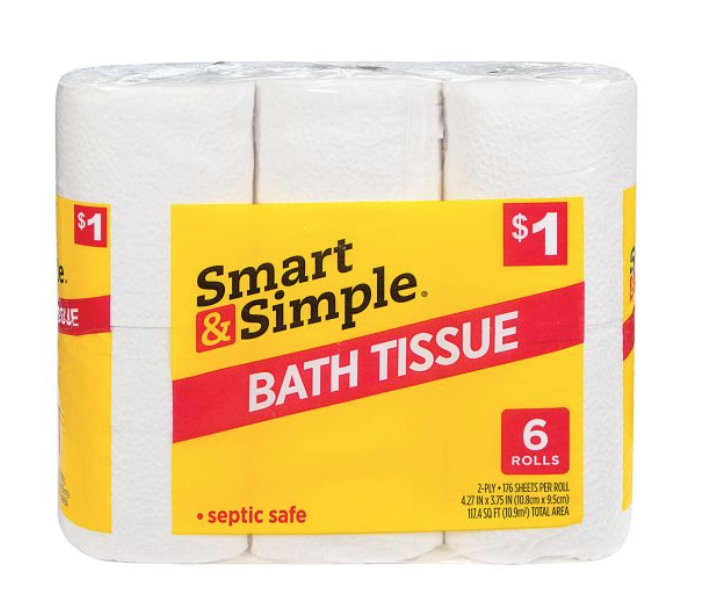 Smart & Simple bath tissue
