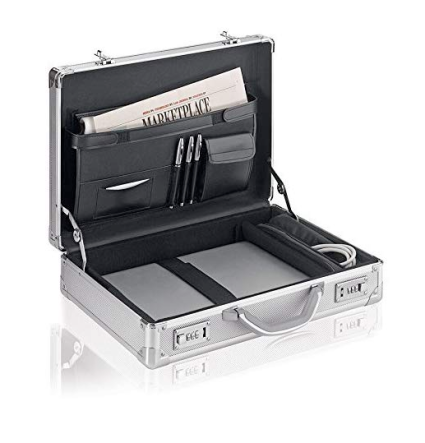 Solo New York Aluminum Laptop/Briefcase with Combination Locks