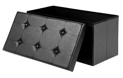Songmics Faux Leather Folding Storage Chest/Footrest