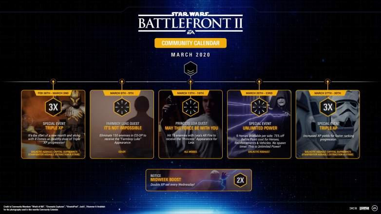 star wars battlefront 2 march calendar