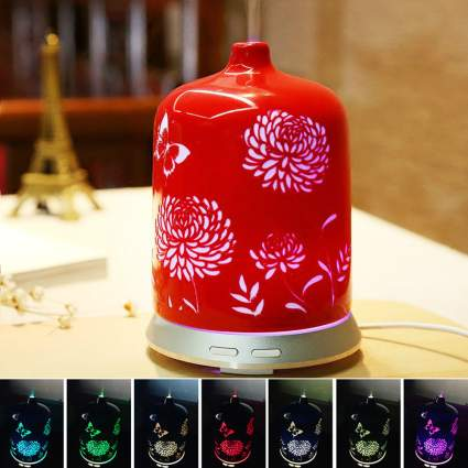 TACTOOL Color Changing Floral Essential Oil Ultrasonic Diffuser