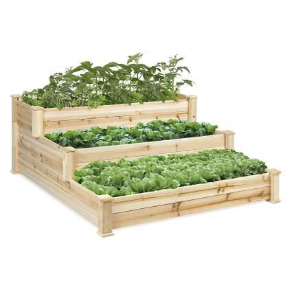 three tier raised planter boxes
