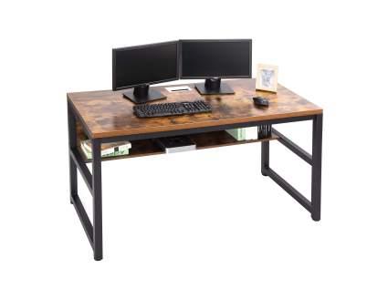 TOPSKY 55 Inch Computer Desk With Bookshelf