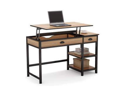 Tribesigns Rustic Lift Top Computer Desk