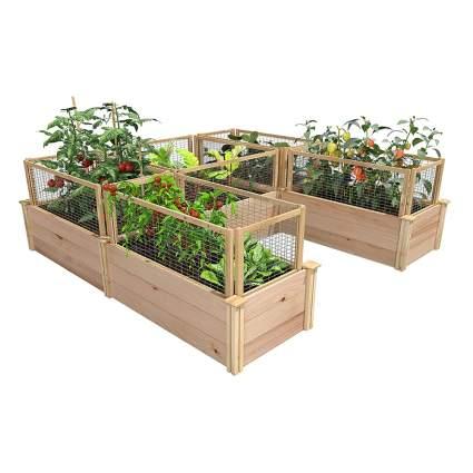 u shaped raised garden boxes