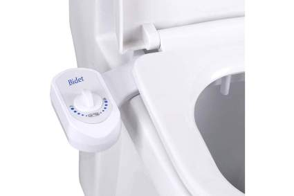 White bidet attachment