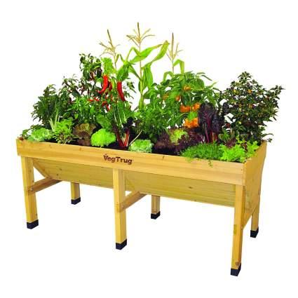 six leg wood raised garden box