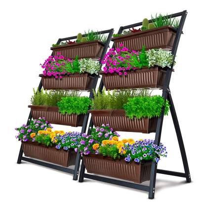 vertical raised planter boxes