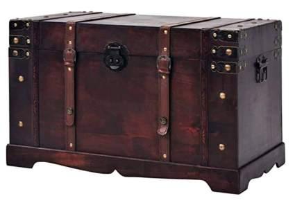 vidadXL Vintage Wooden Storage Trunk