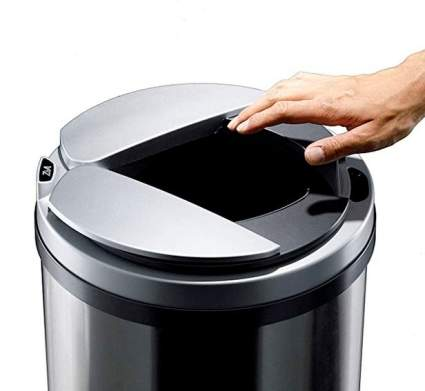 Zita Stainless Steel Motion Sensor Trash Can