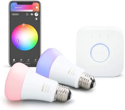 hilips Hue 2-Pack Premium Smart Light Starter Kit