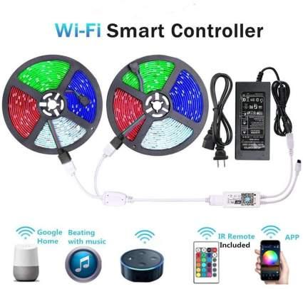 WiFi Wireless Smart Phone Controlled Strip Light Kit