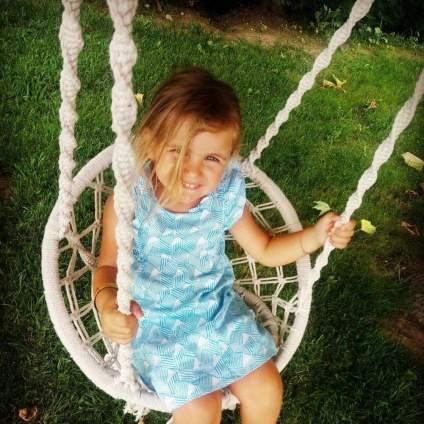 Macrame Hammock Swing Chair for Kids