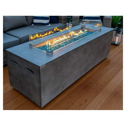 concrete gas fire table