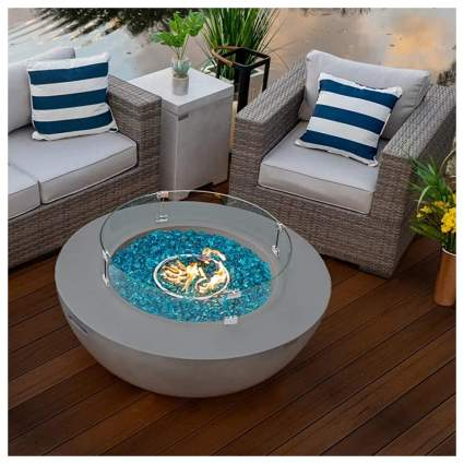 gas fire bowl table