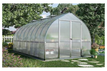 polycarbonate high tunnel greenhouse