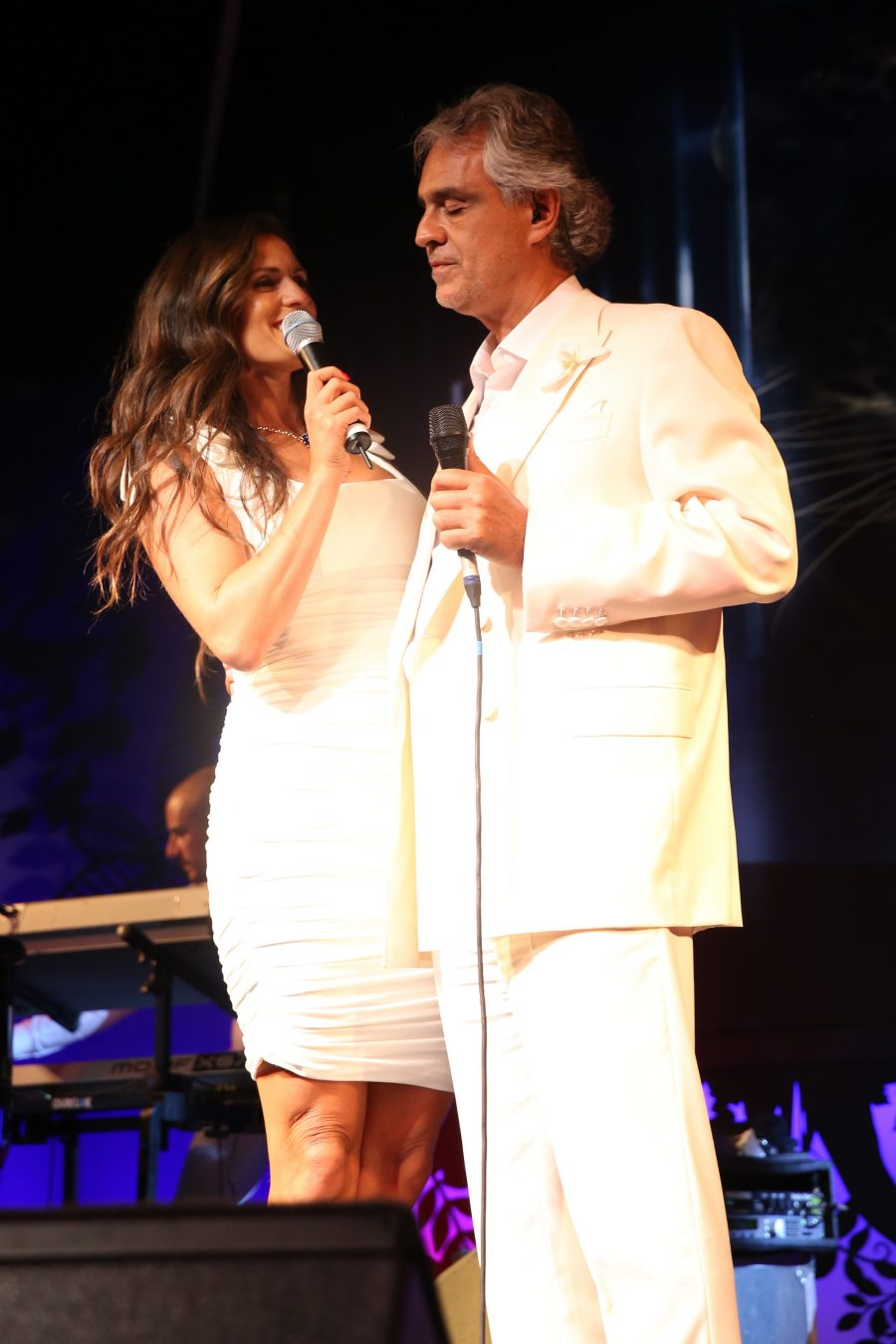 Andrea Bocelli and Veronica Berti