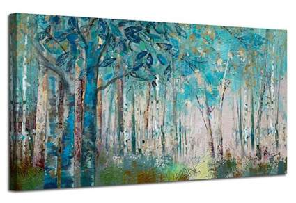 Ardemy Canvas Large Abstract Artwork – Modern Birch Trees
