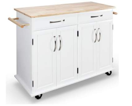 Belleze Rolling Kitchen Cart on Wheels
