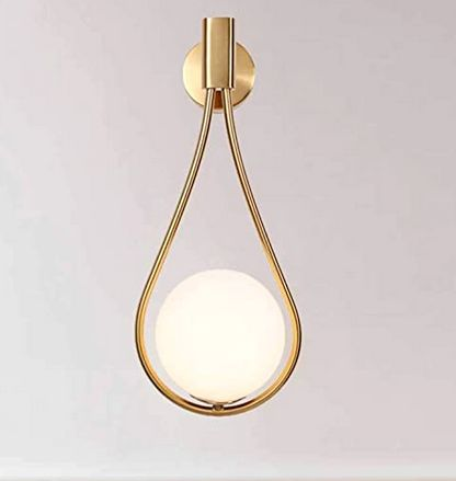BOKT Gold and Glass Waterdrop Wall Sconce