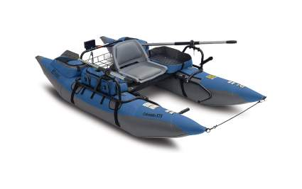 Classic Accessories Colorado XTS Inflatable Fishing Pontoon Boat With Transport Wheel