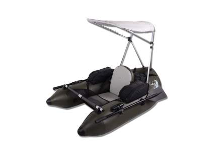 DAMA Fishing Inflatable Pontoon Tube Boat with Detachable Seat and Awning