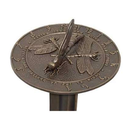 bronze dragonfly sundial and pedestal
