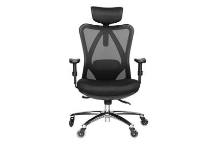 black mesh ergonomic office chair