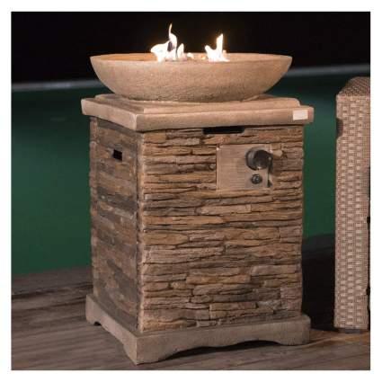 faux marble propane fire bowl