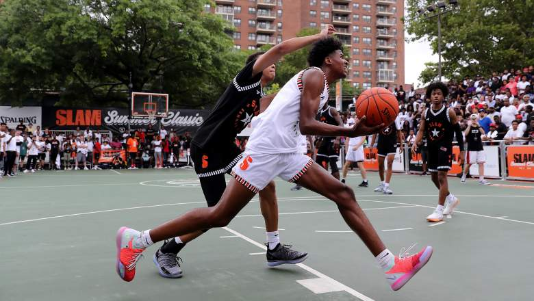 Jalen Green at the SLAM Summer Classic 2018 in New York