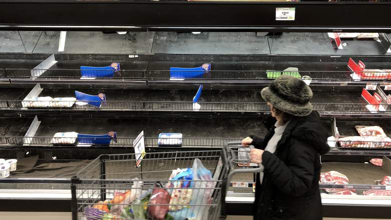 Grocery stores have a hard time staying stocked during CV-19 pandemic.