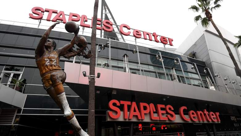 Staples Center in Los Angeles, home of the NBA's Lakers and Clippers