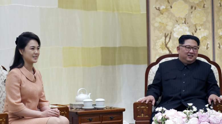 Kim Jong Un and Ri Sol-ju