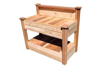 solid ceday potting bench