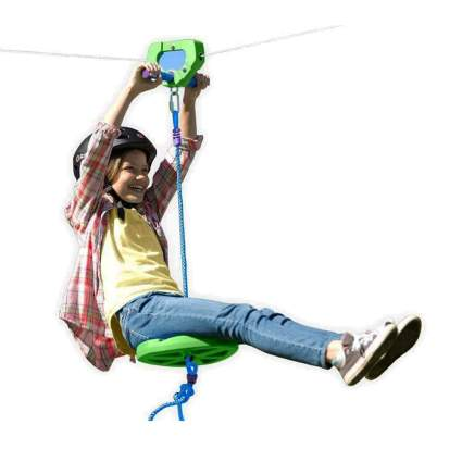 100 foot kids zipline kit