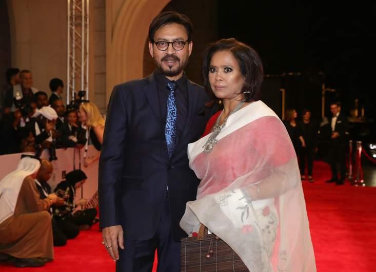 Irrfan Khan and wife